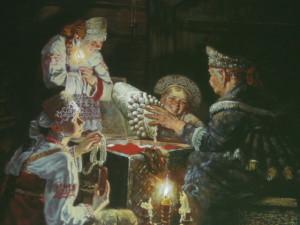 "Ю. Сергеев ""Бабушкины наряды"""