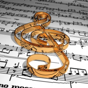 ключ на нотах