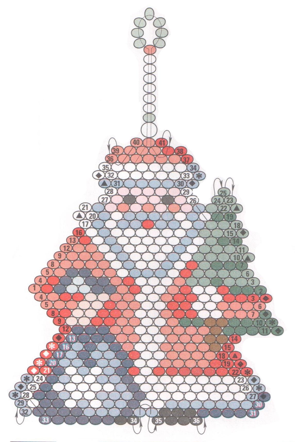 Дед мороз бисером схемы