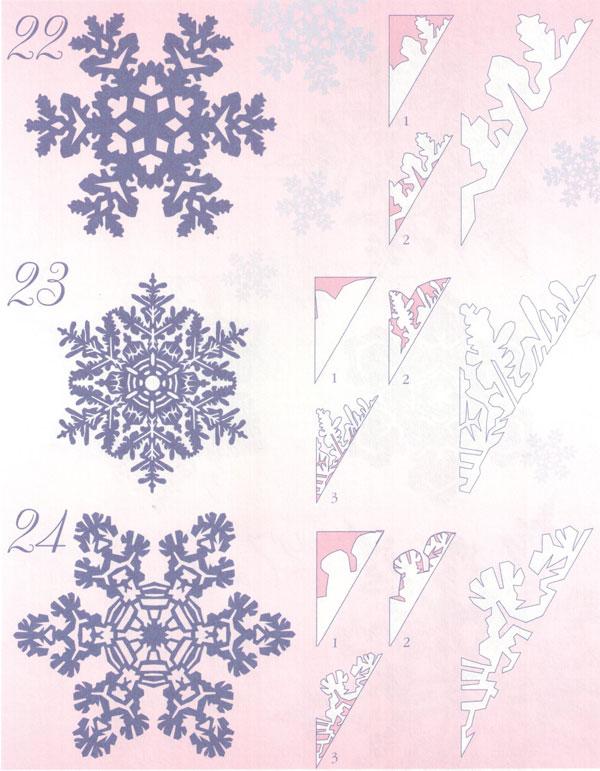 Как сделать из бумаги узор для снежинки