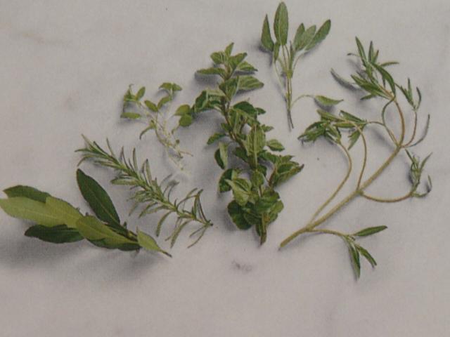 зелень с сильным запахом